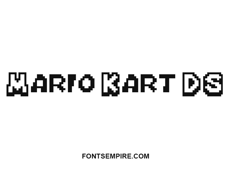 Mario Kart Ds Font Family Free Download