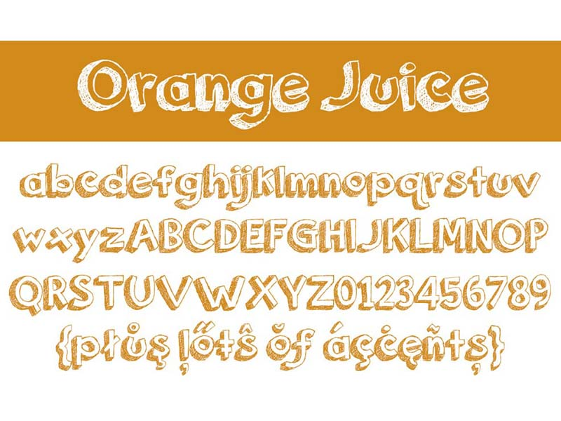 Orange Juice Font Family Download