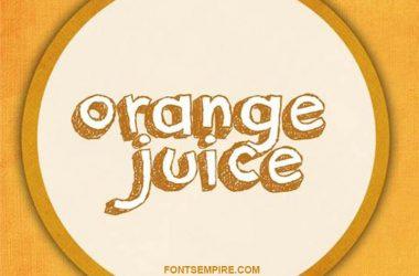 Orange Juice Font Family Free Download