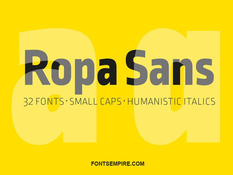 Ropa Sans Font Family Free Download
