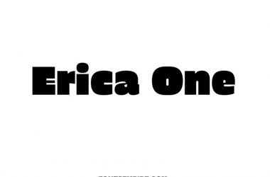 Erica One Font Family Free Download