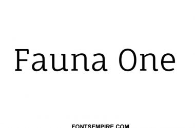Fauna One Font Family Free Download