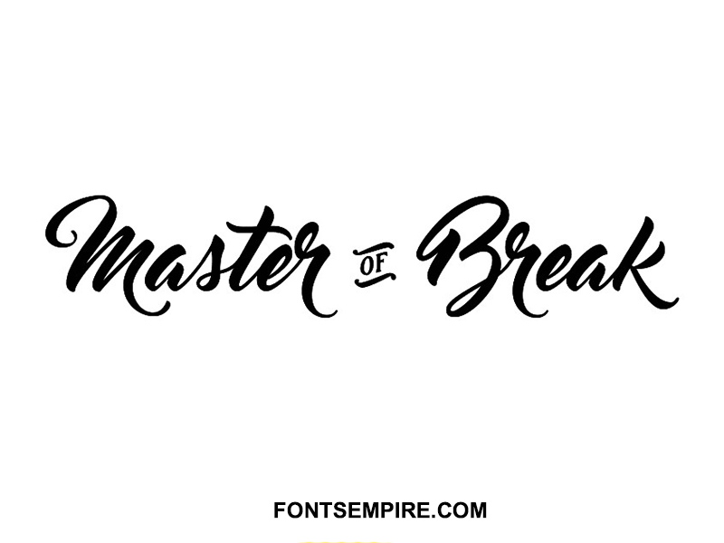Master Of Break Font Family Free Download