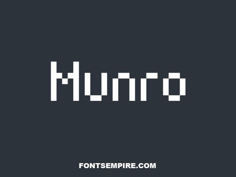 Munro Font Family Free Download