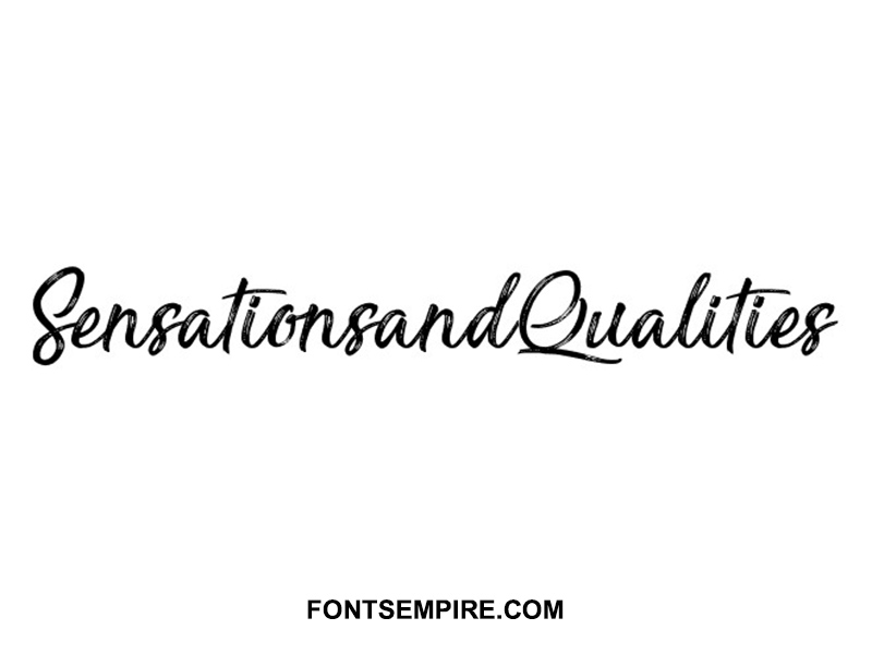 Sensations and Qualities Font Family Free Download