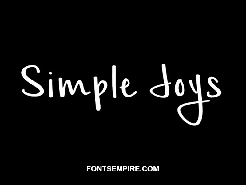 Simple Joys Font Family Free Download