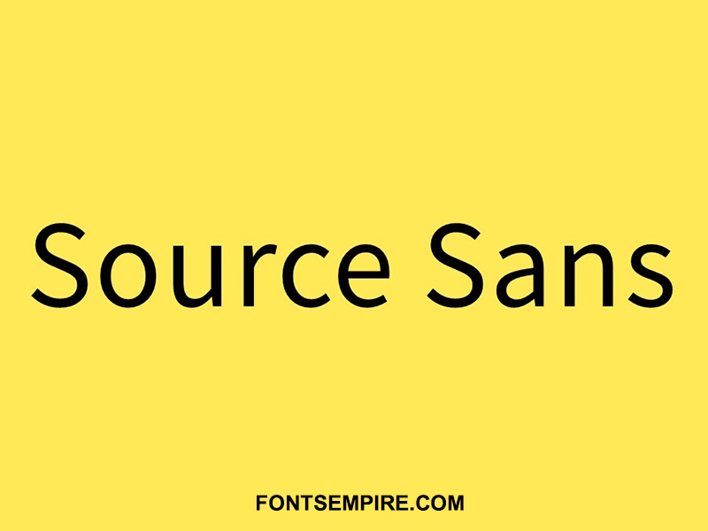 Source Sans Font Family Free Download