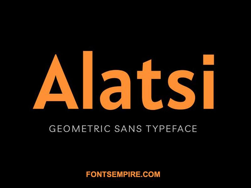 Alatsi Font Family Free Download