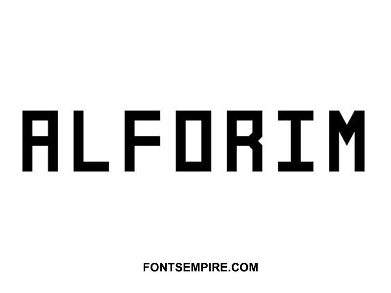 Alforim Font Family Free Download