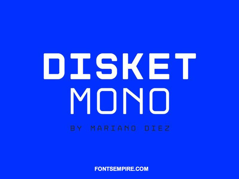Disket Mono Font Family Free Download