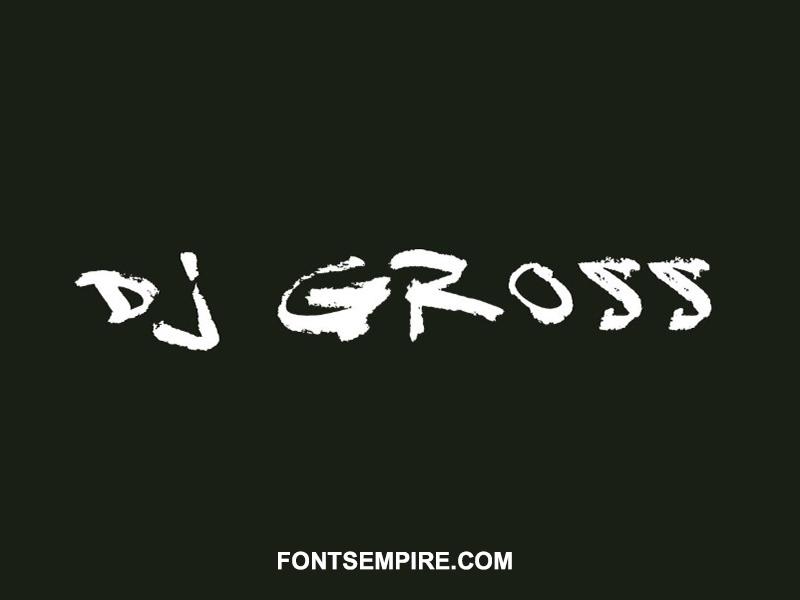 Dj Gross Font Family Free Download