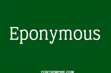 Eponymous Font Family Free Download