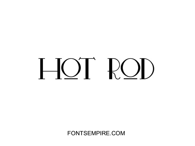 Hot Rod Font Family Free Download