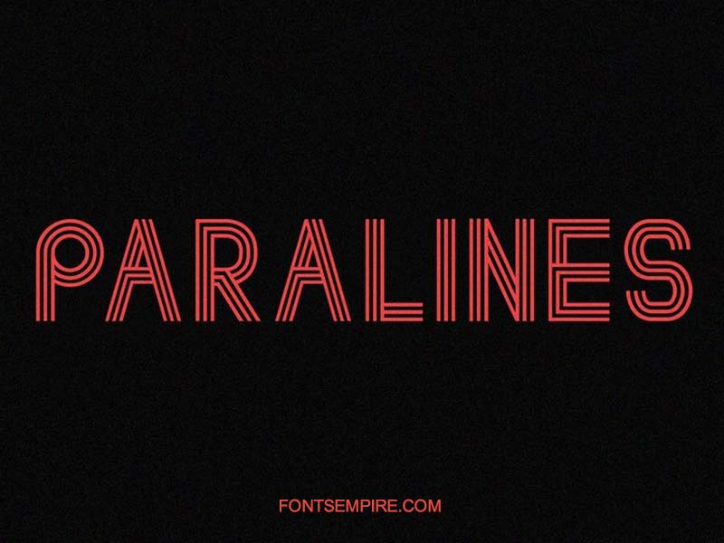 Paralines Font Family Free Download