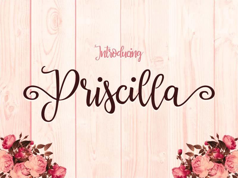 Priscilla Font Family Free Download
