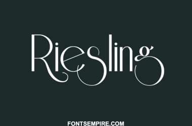 Riesling Font Family Free Download