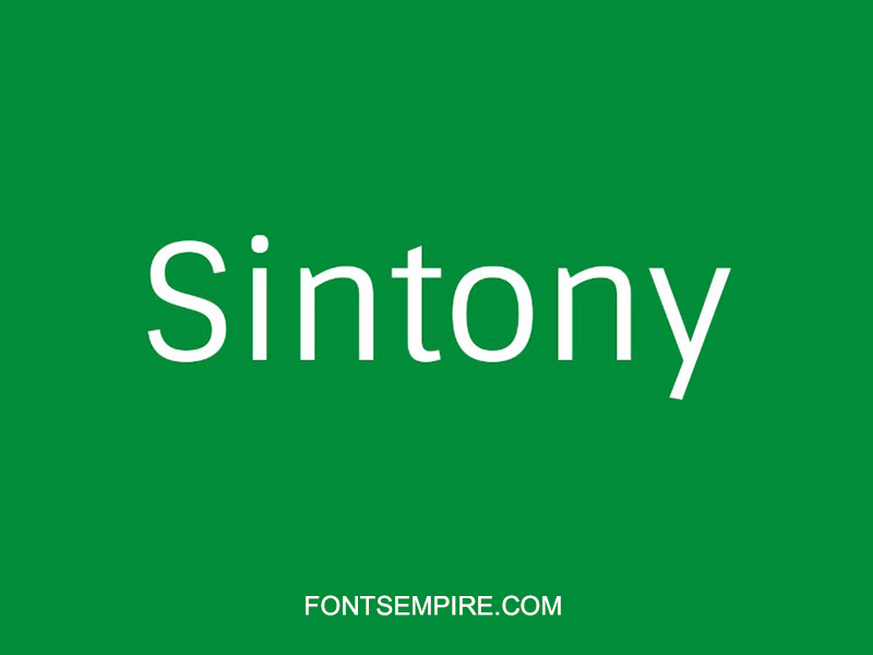 Sintony Font Family Free Download