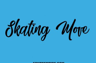 Skating Move Font Family Free Download