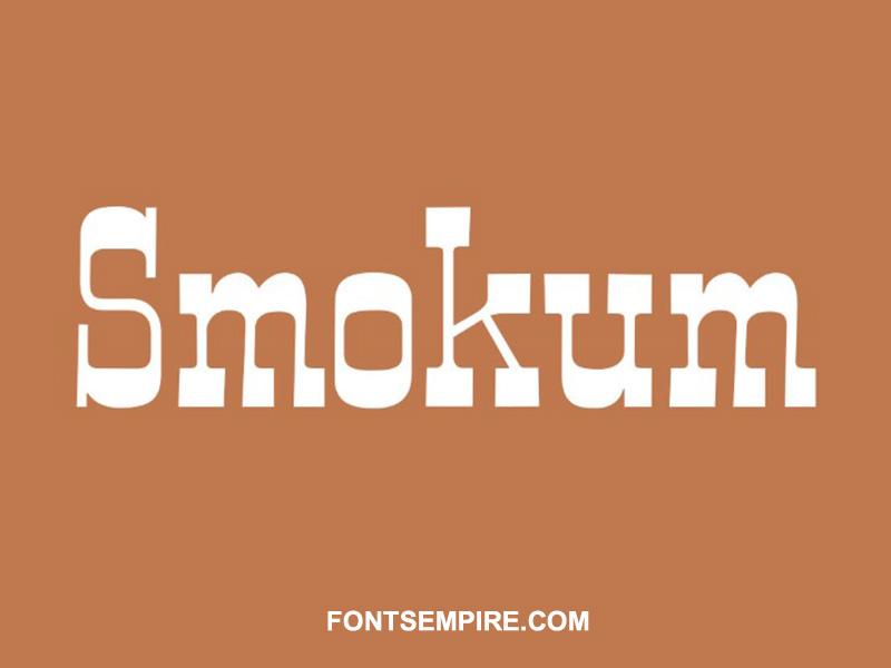 Smokum Font Family Free Download