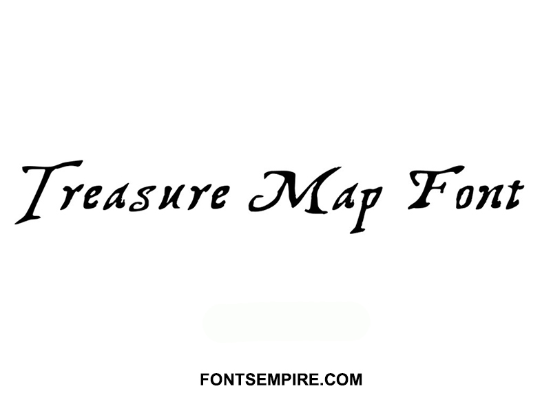 Treasure Map Font Family Free Download