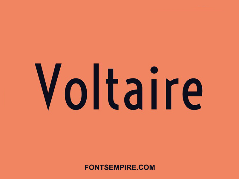 Voltaire Font Family Free Download