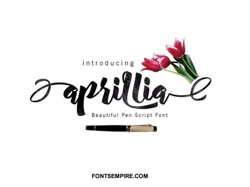 Aprillia Script Font Family Free Download