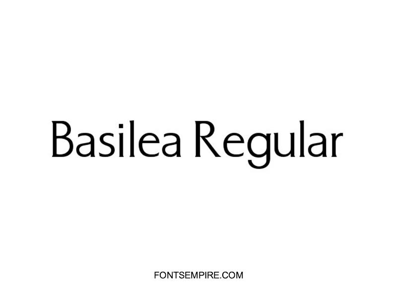 Basilea Font Family Free Download