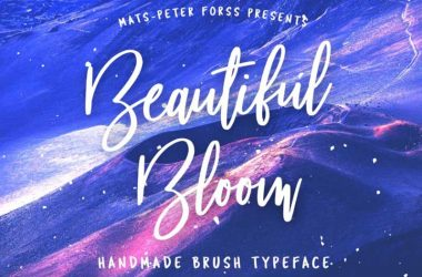 Beautiful Bloom Font Family Free Download