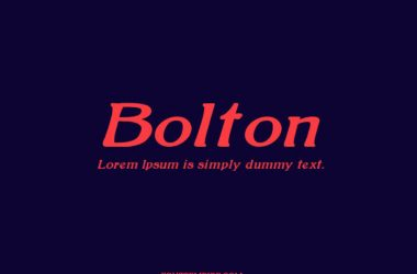 Bolton Font Family Free Download