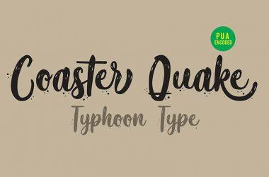 Coaster Quake Font Family Free Download