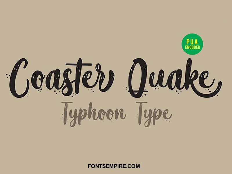 Coaster Quake Font Family Free Download