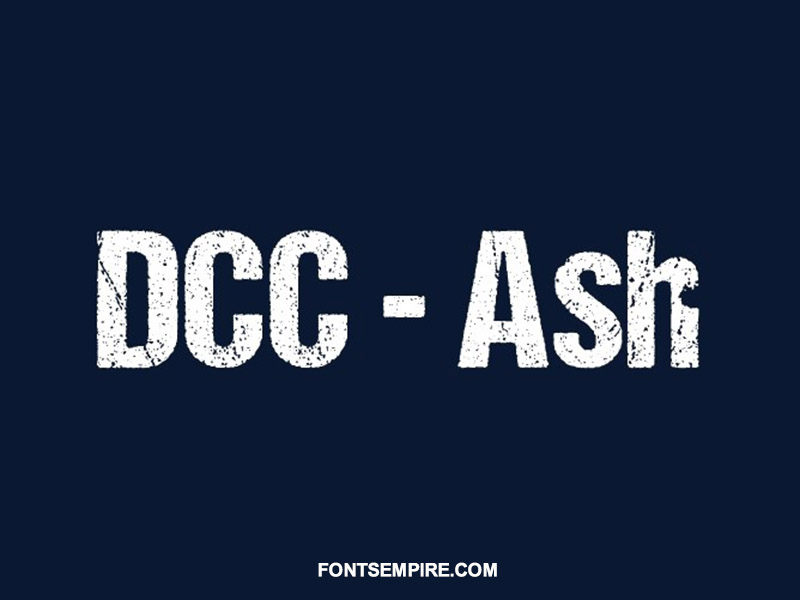 Dcc Ash Font Family Free Download