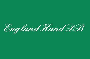 England Hand DB Font Family Free Download