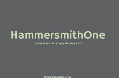 Hammersmith One Font Family Free Download