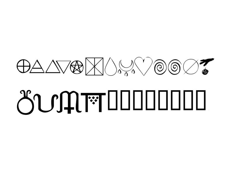 KR Wiccan Symbols Font Family Download