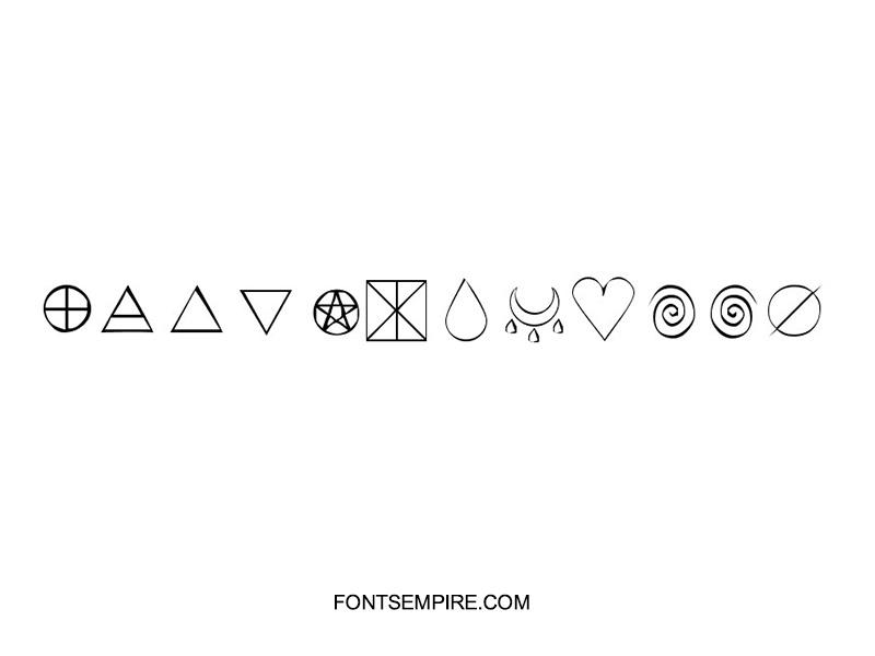 KR Wiccan Symbols Font Family Free Download