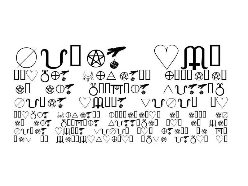 KR Wiccan Symbols Font Free Download