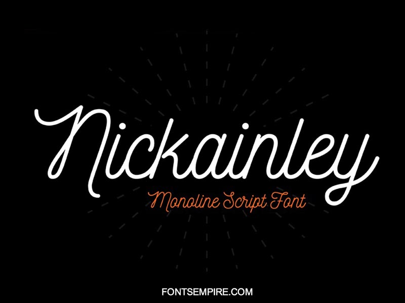 Nickainley Script Font Family Free Download