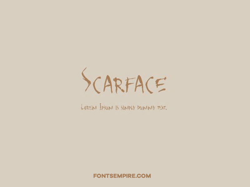 Scarface Font Family Free Download