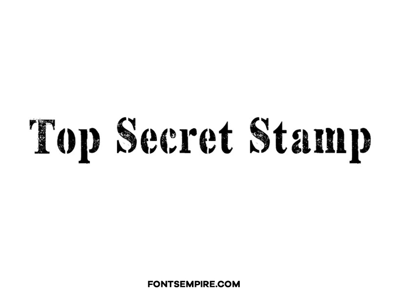 Top Secret Stamp Font Family Free Download