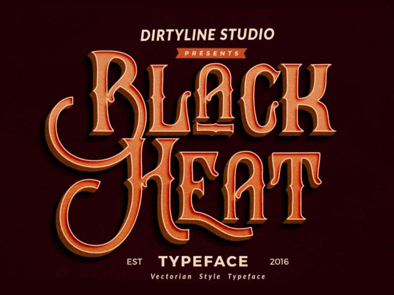 Black Heat Font Family Free Download