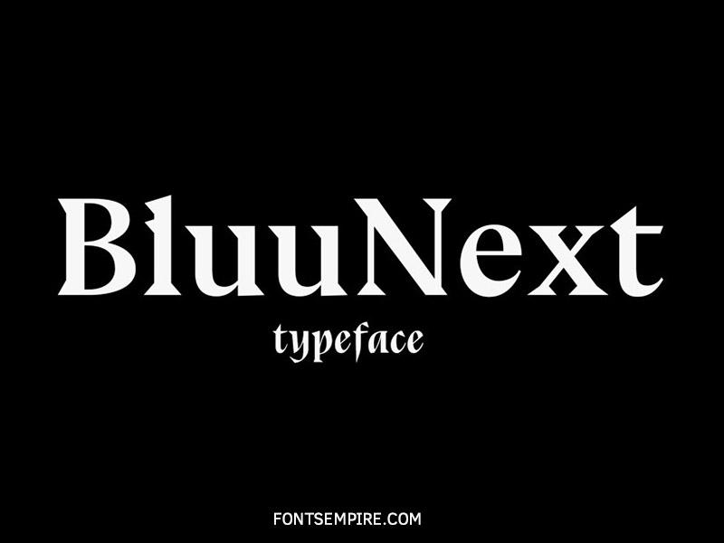 Bluu Next Font Family Free Download