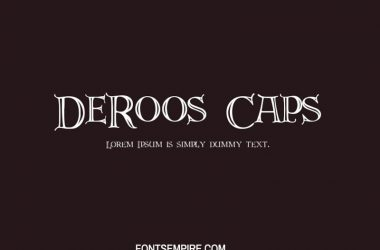 DeRoos Caps Font Family Free Download