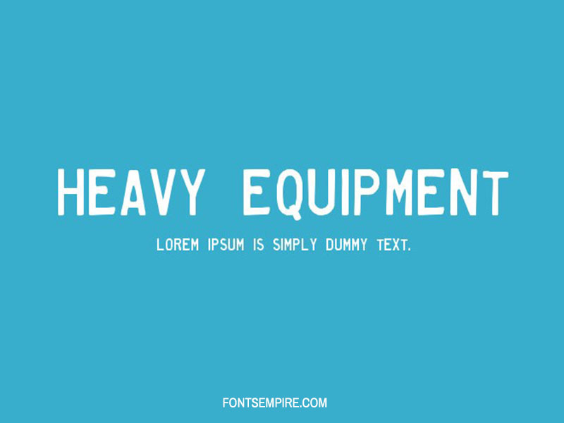 Heavy Equipment Font Free Download