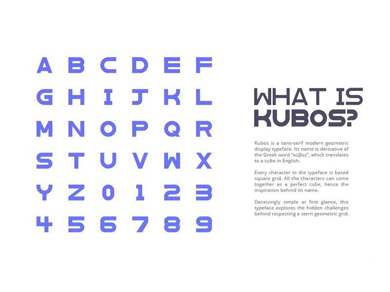 Kubos Font Family Download
