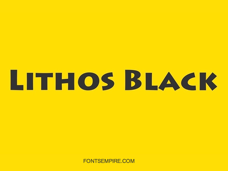 Lithos Black Font Family Free Download