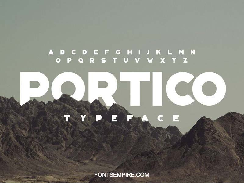 Portico Font Family Free Download