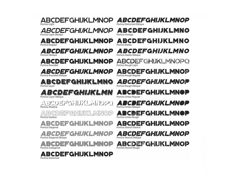 Portico Font Free Download