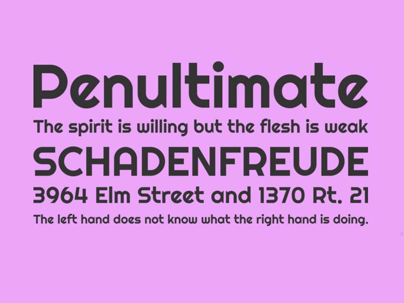 Righteous Font Family Download