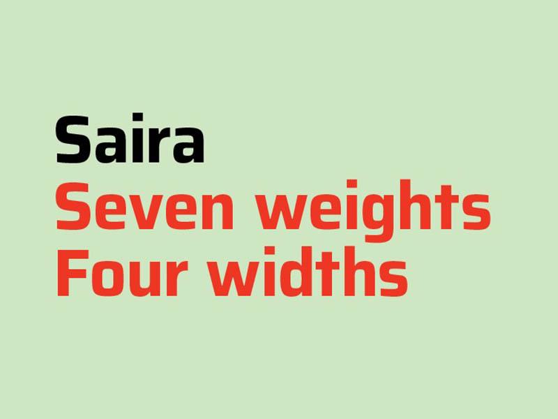 Saira Font Family Download